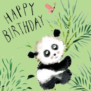 FIZ1 - Happy Birthday Card Panda